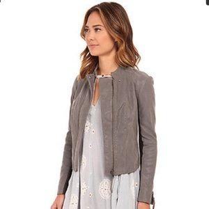 🌈FREE PEOPLE🌈 Suede Grey Jacket